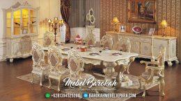 Furniture Mebel Jepara Set Meja Makan Mewah Klasik Terbaru Minerva MB-0032