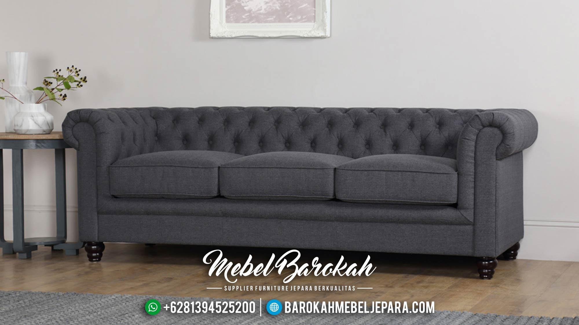 Jual 1 Set Sofa Tamu Mewah Minimalis Jepara Chesterfield MB-0020 Gambar 1