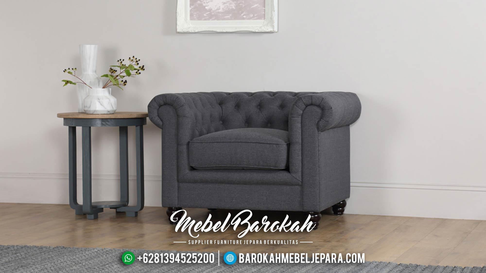 Jual 1 Set Sofa Tamu Mewah Minimalis Jepara Chesterfield MB-0020 Gambar 3