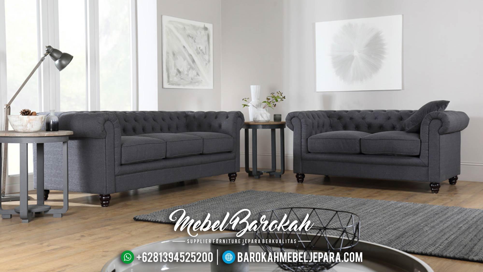 Jual 1 Set Sofa Tamu Mewah Minimalis Jepara Chesterfield MB-0020