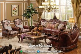 Set Kursi Sofa Tamu Jepara Terbaru Ukiran Mewah Alexia MB-0035