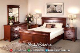 Set Kamar Tidur Mewah Minimalis Jati Jepara Terbaru Murah MB-0036