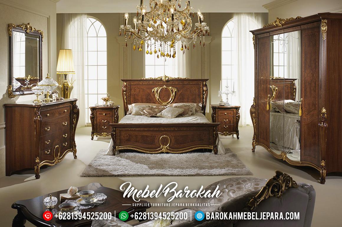 Kamar Set Jepara Minimalis Mewah Jati Natural Emas Terbaru Spaveca MB-0069 Gambar 1