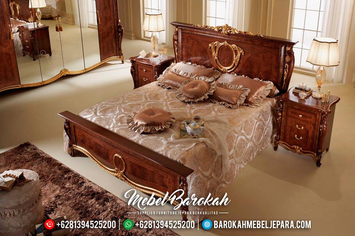 Kamar Set Jepara Minimalis Mewah Jati Natural Emas Terbaru Spaveca MB-0069 Gambar 2