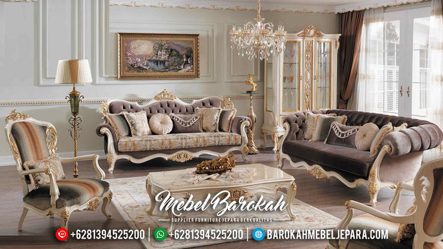 MB-0072 Set Kursi Sofa Tamu Jepara Terbaru Model Mewah Klasik Turkey