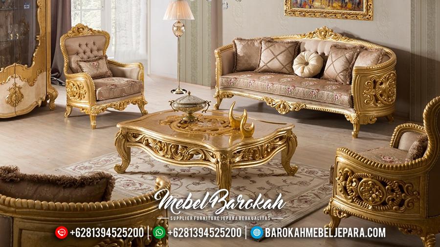 MB-0073 Set Kursi Sofa Ruang Tamu Mewah Ukiran Luxury Emas Jepara Terbaru