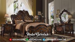Set Kamar Tidur Mewah Jati Jepara Ukiran Classic Luxury Gaya Eropa MB-0092