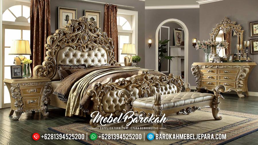Set Kamar Tidur Mewah Jepara, Kamar Set Ukiran Klasik, Tempat Tidur Mewah Terbaru MB-0096