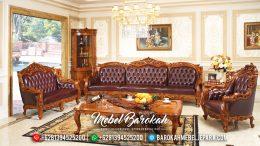 Set Kursi Sofa Tamu Mewah Jati Jepara Barcelona Royals Terbaru MB-0087