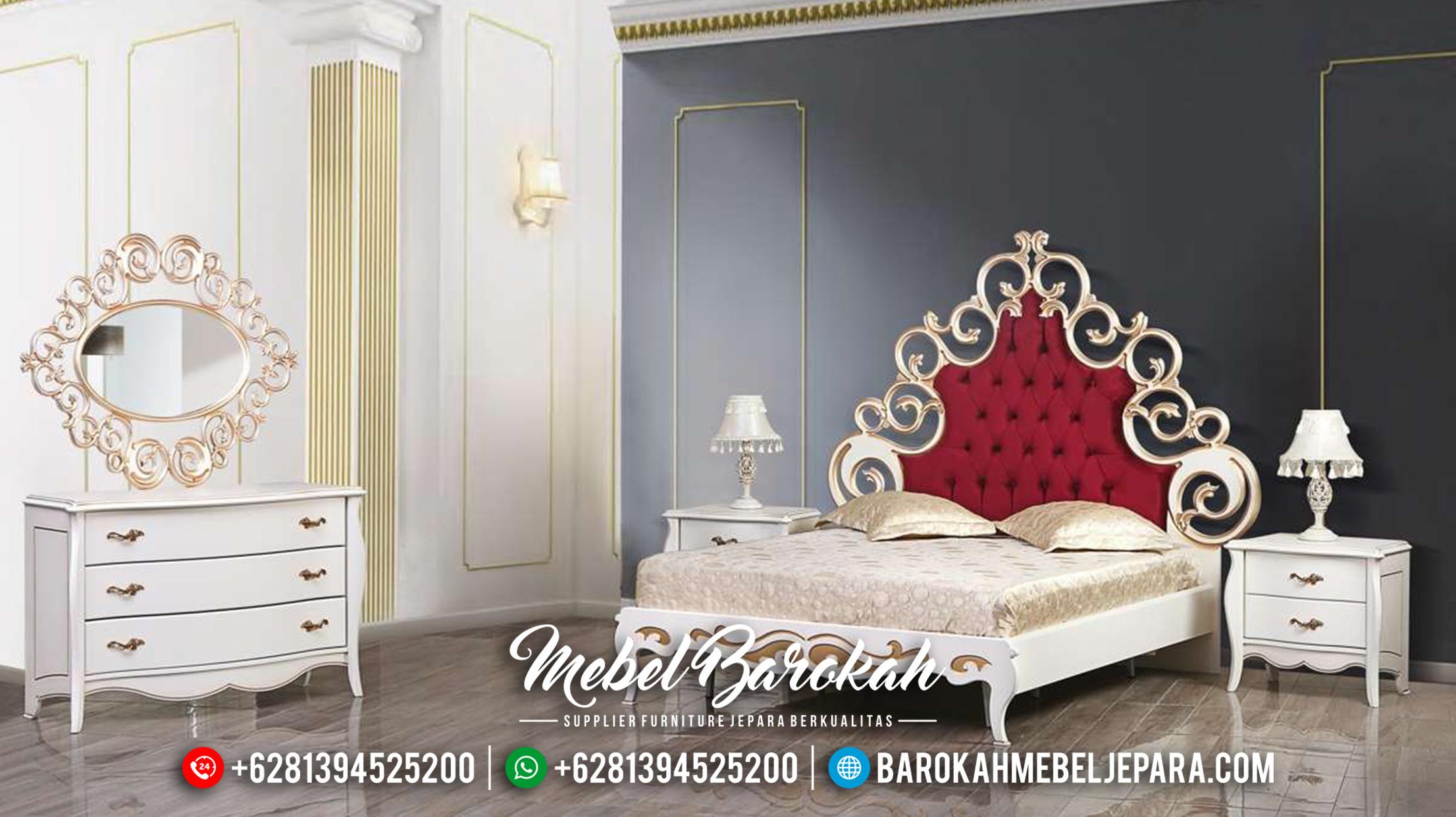 Set Kamar Tempat Tidur Mewah Jepara Terbaru Zayyn MB-0103