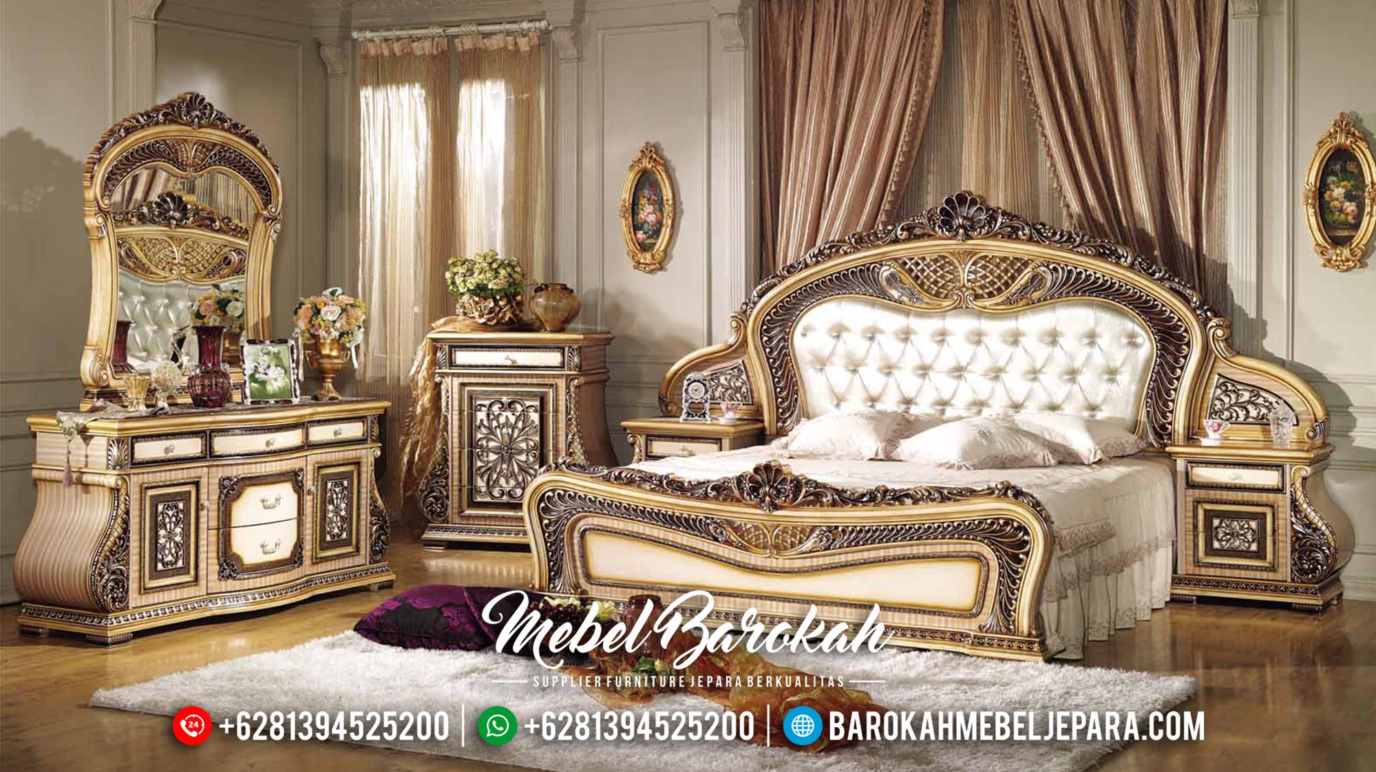 Set Kamar Tidur Mewah Jepara Klasik Terbaru Carmencinta MB-0105
