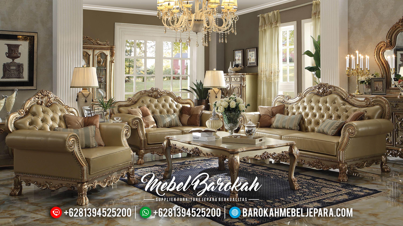 Sofa Tamu Jepara Mewah Golden Canary Terbaru Untuk Ruang Tamu Mewah MB-0112
