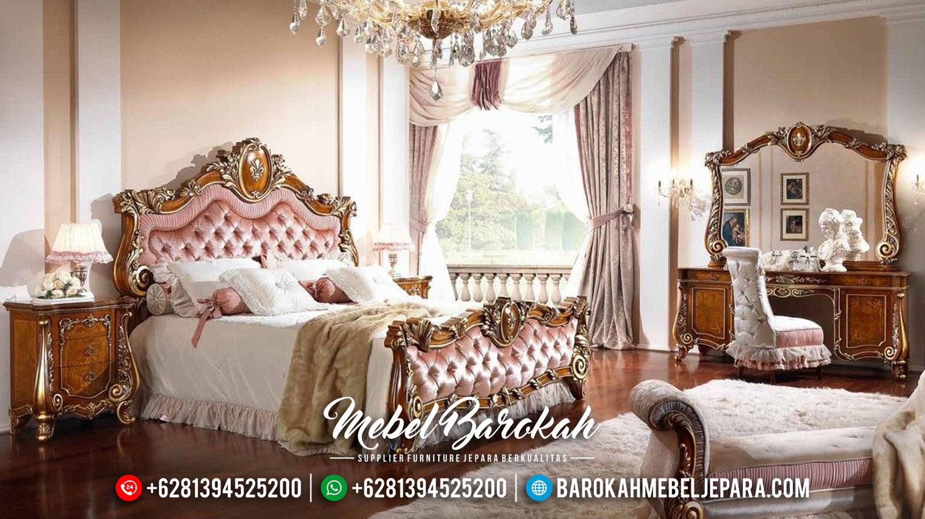 Set Kamar Tidur Mewah, Kamar Set Jati Jepara, Dipan Jati Murah MB-0122