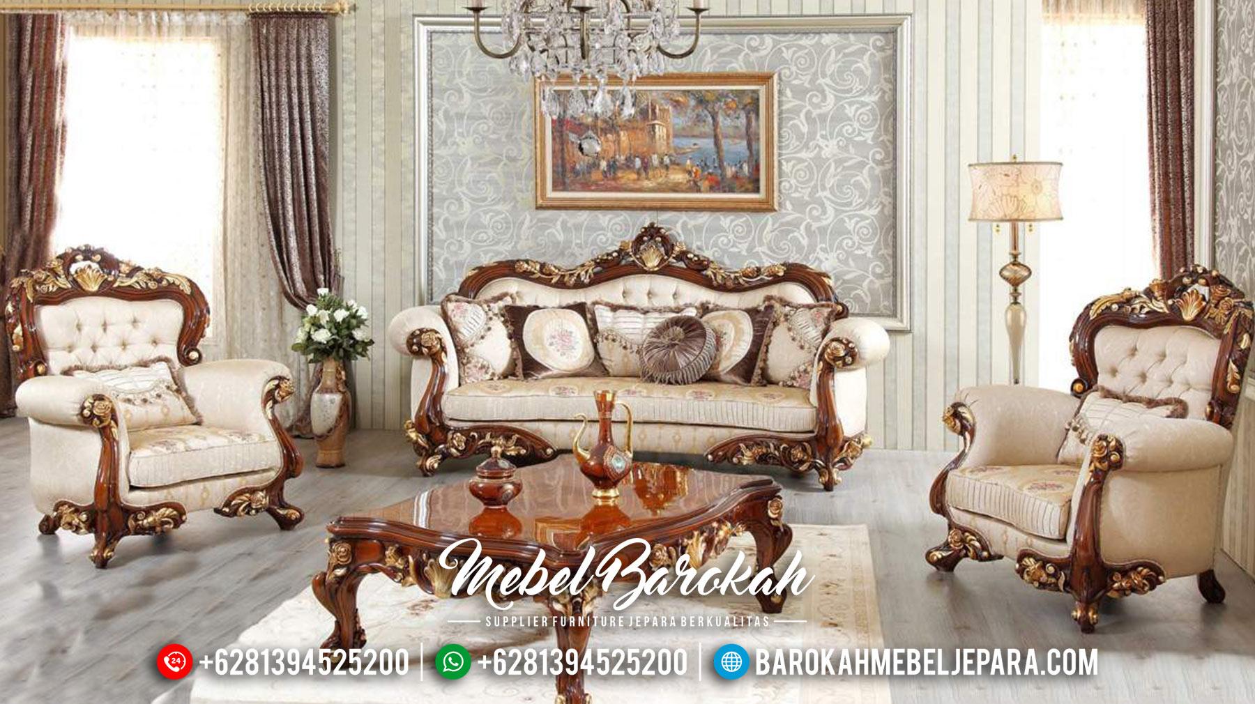 Set Sofa Tamu Mewah Jepara Terbaru Jati Ukiran Klasik MB-0130