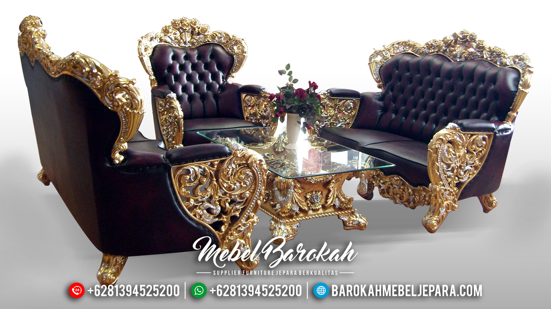 Sofa Tamu Jepara Mewah Model Bellagio Terbaru Luxury MB-0126