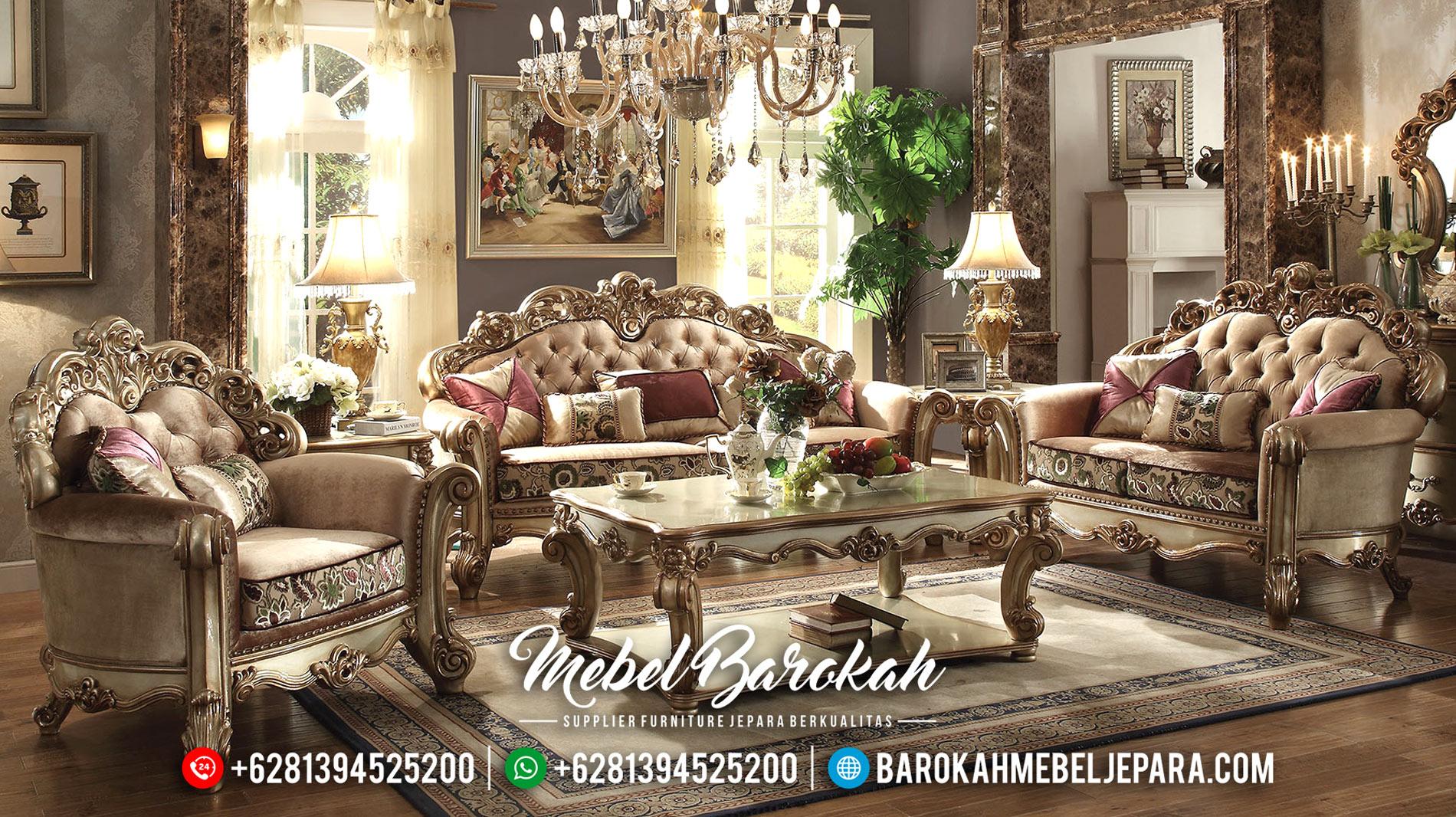 Sofa Tamu Jepara Terbaru Model Mewah Klasik Furniture HD MB-0127