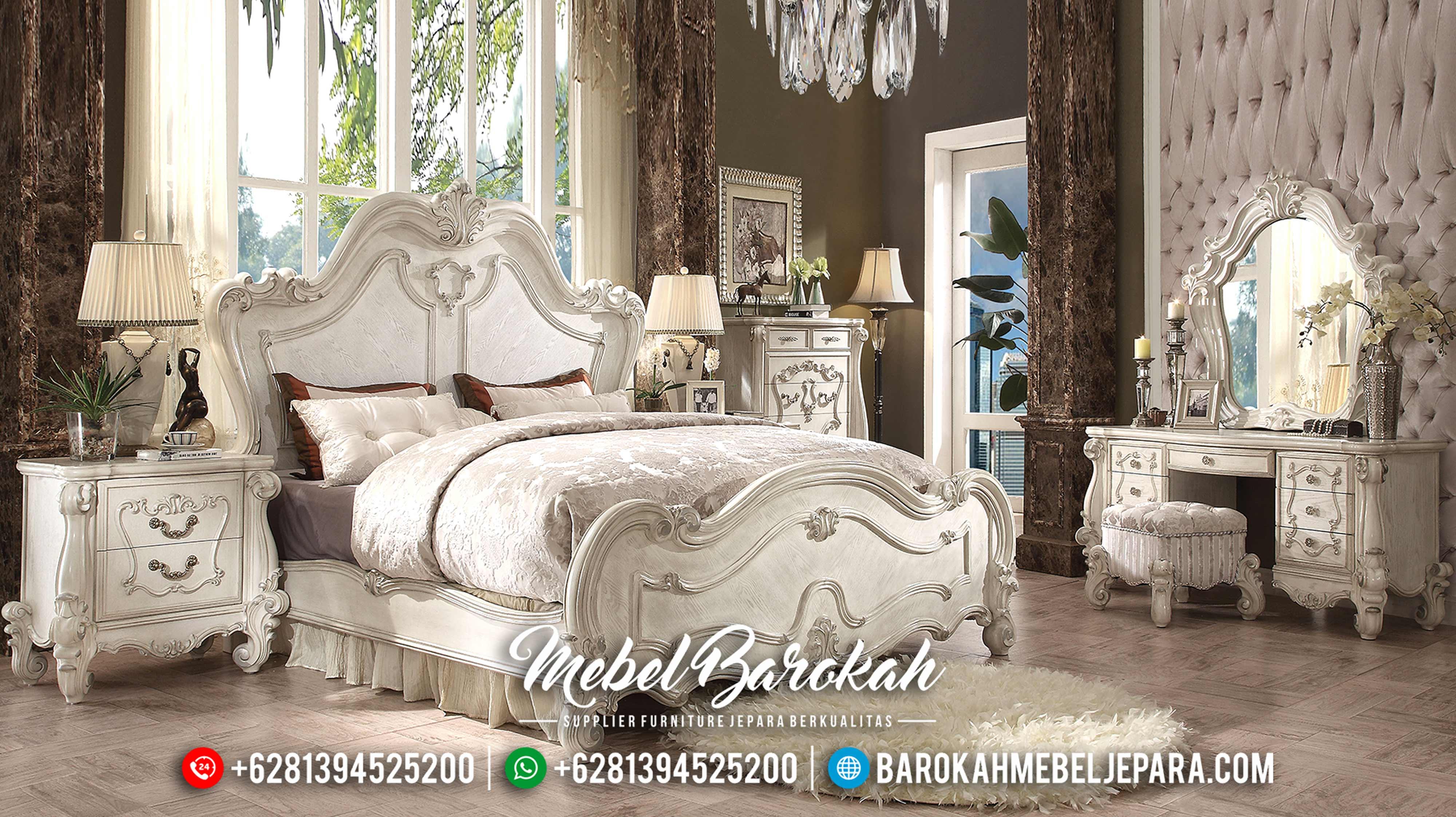 Classic Furniture Indonesian Set Tempat Tidur Mewah Jepara Terbaru MB-0134