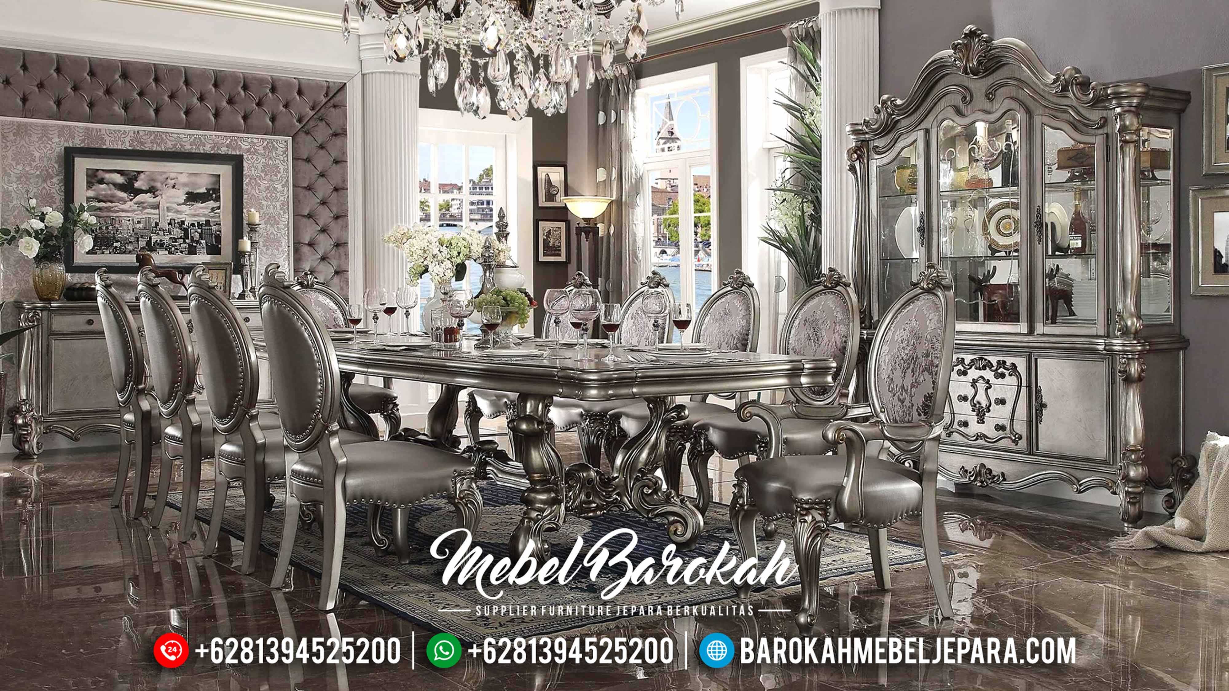 Furniture Klasik Antik Meja Makan Mewah Jepara Terbaru Versailles MB-0141