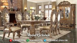 Klasik Mebel Terbaru Meja Makan Mewah Jepara Full Ukiran Royal MB-0138