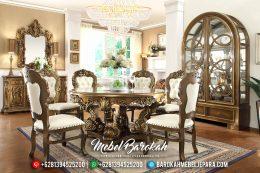 Meja Makan Jepara Terbaru, Meja Makan Mewah, Mebel Jepara Murah MB-0145