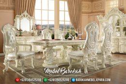 Mebel Jepara Terbaru Set Meja Makan Mewah Ukiran Classic Victorian MB-0146