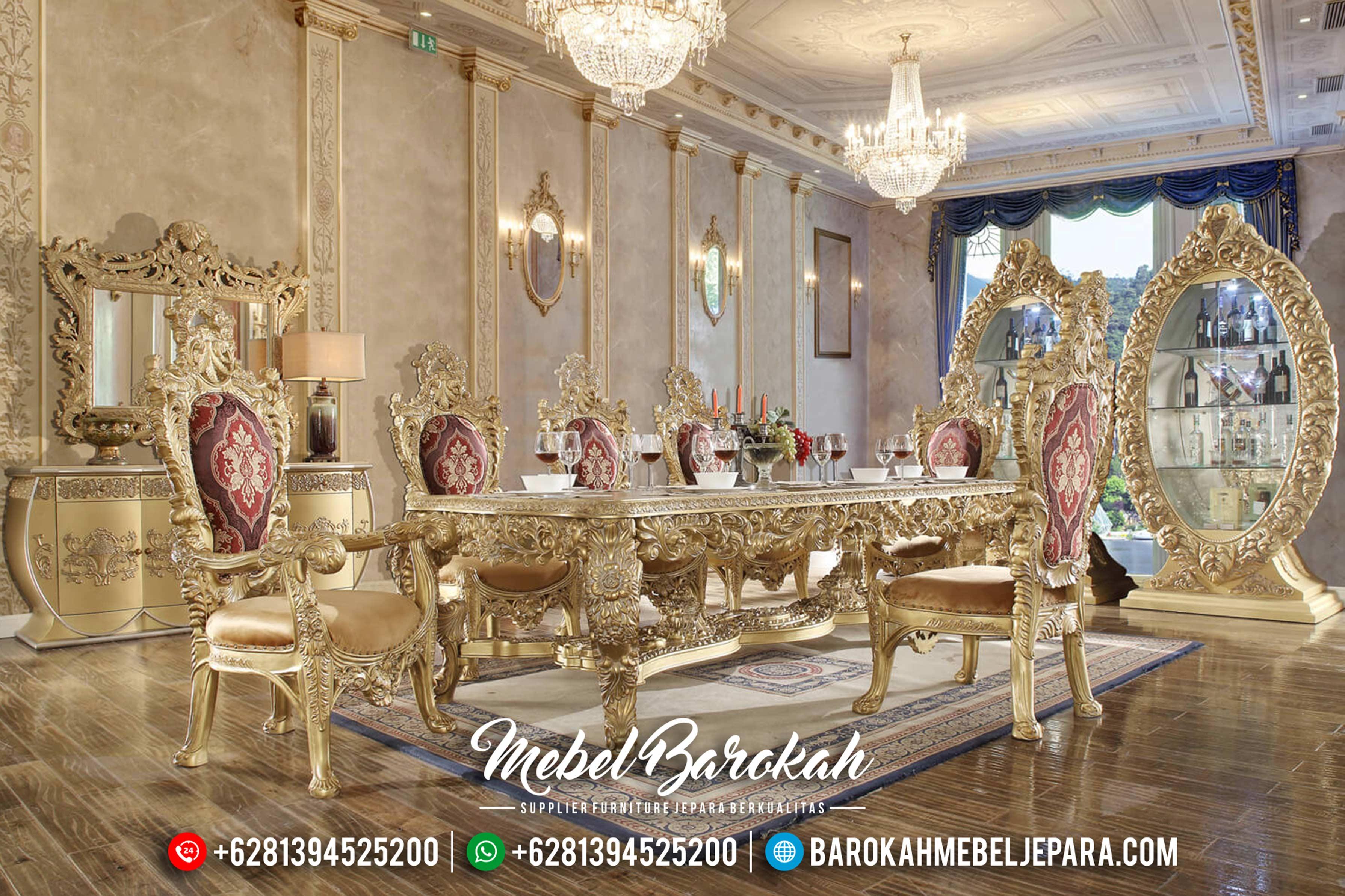 Meja Makan Ukir Klasik, Meja Makan Mewah Jepara, Mebel Jepara Terbaru MB-0148