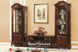Bufet TV Jepara Mewah Jati Jepara Model Terbaru Natural Emas MB-0154