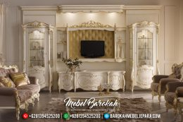 Bufet TV Mewah Classic, Bufet TV Jepara, Mebel Jepara Terbaru MB-0158