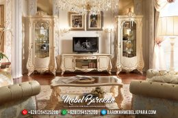 Jual 1 Set Bufet TV Jepara Mewah Minimalis Firenze Model Terbaru MB-0157