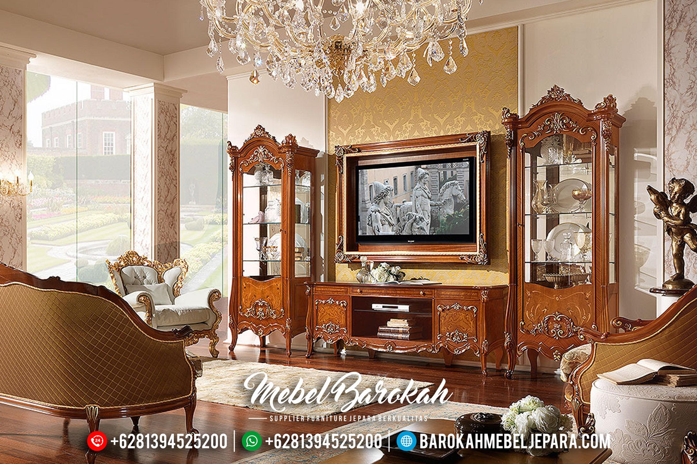 Jual Mebel Jepara 1 Set Lemari Hias Dan Bufet TV Mewah Minimalis Klasik MB-0160