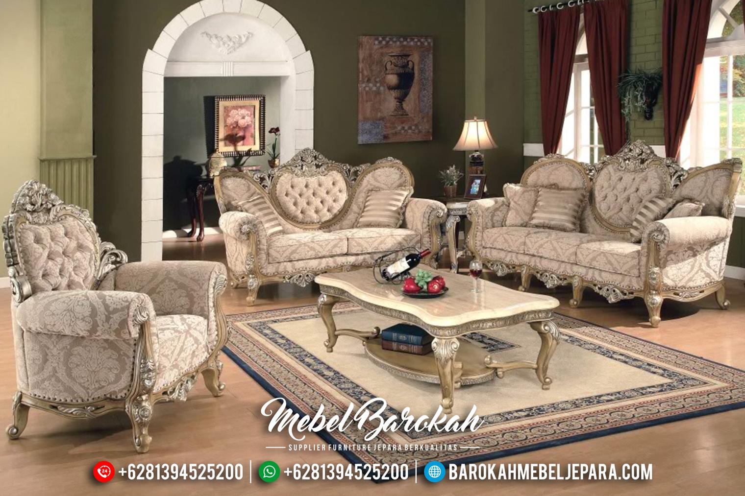 Sofa Tamu Jepara Mewah Klasik Terbaru Victorian Kalonica MB-0164