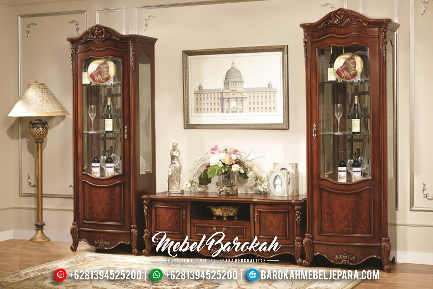Bufet TV Jepara Jati, Lemari Hias Klasik, Bufet TV Mewah Minimalis MB-0167