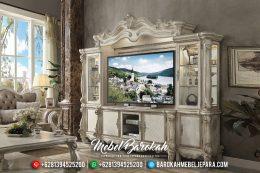 Bufet TV Jepara Mewah Versailles Model Terbaru Duco Ivory MB-0168