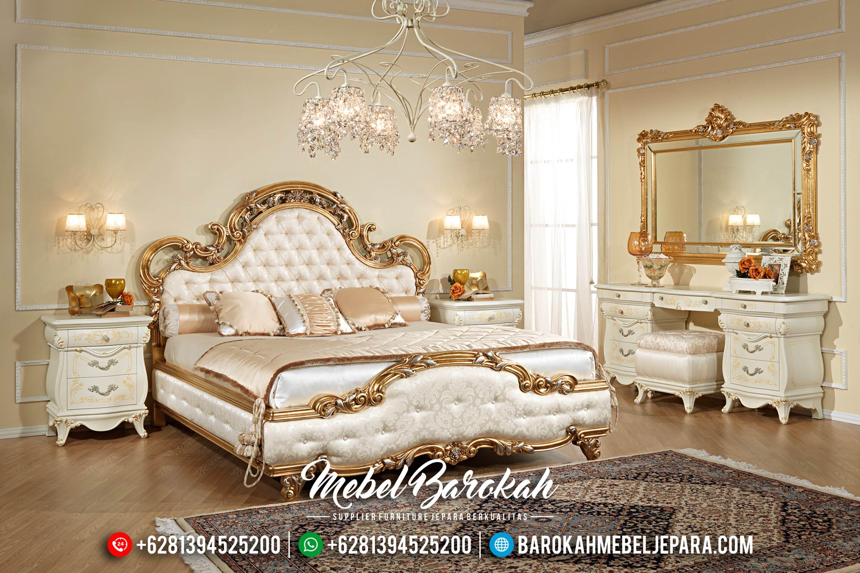 Furniture Ukiran Klasik Tempat Tidur Mewah Jepara Gold Duco MB-0175