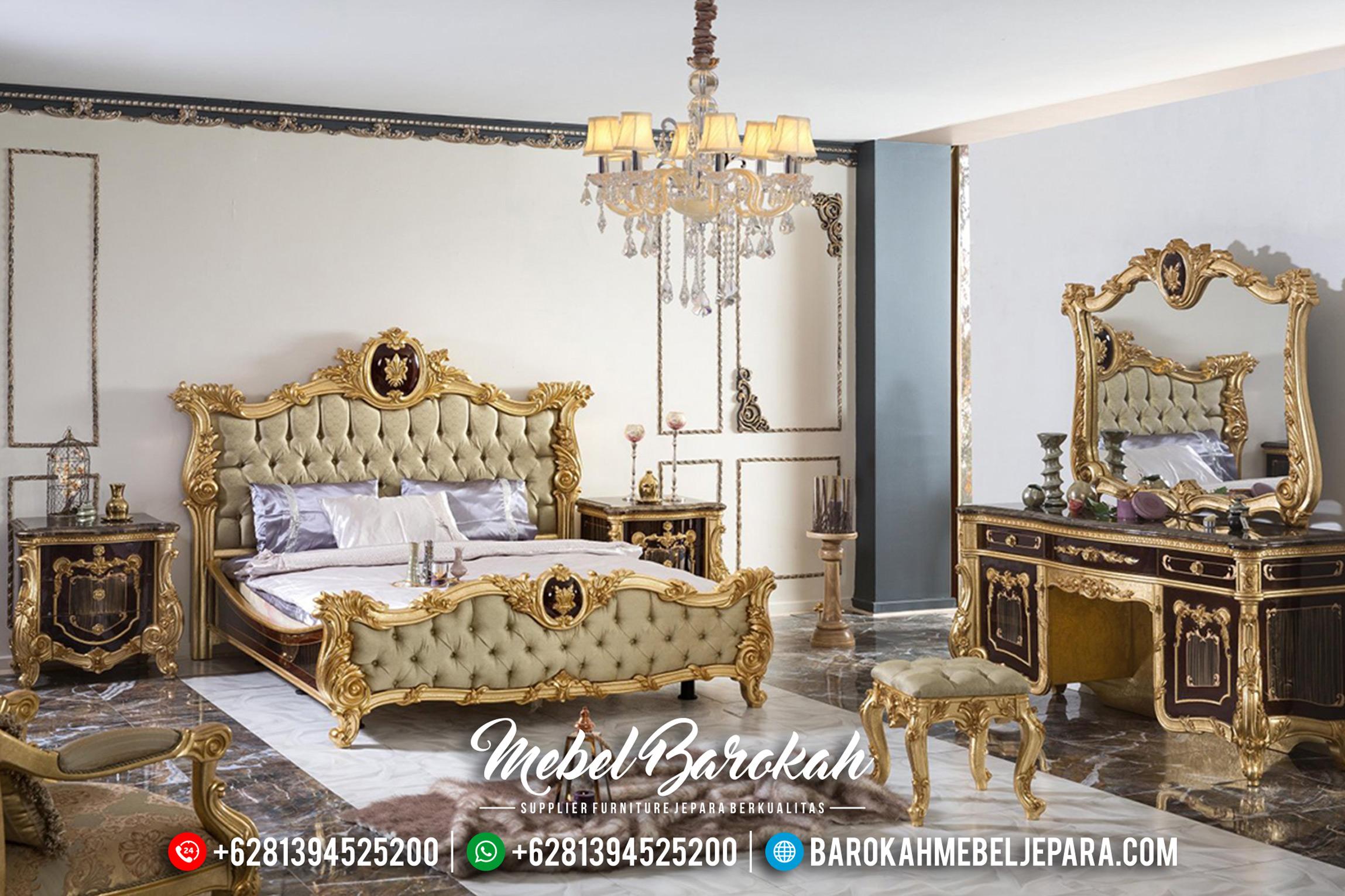 Kamar Set Mewah Tempat Tidur Jepara Klasik Duco Emas Erciyes Exclusive MB-0177