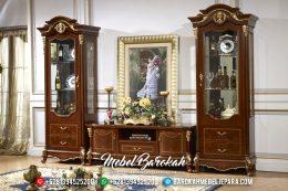 Mebel Jati Jepara Bufet TV Minimalis Mewah Terbaru Cellaretlow MB-0173