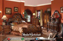 Tempat Tidur Mewah Jepara, Kamar Set Mewah, Dipan Jati Ukiran Klasik MB-0176