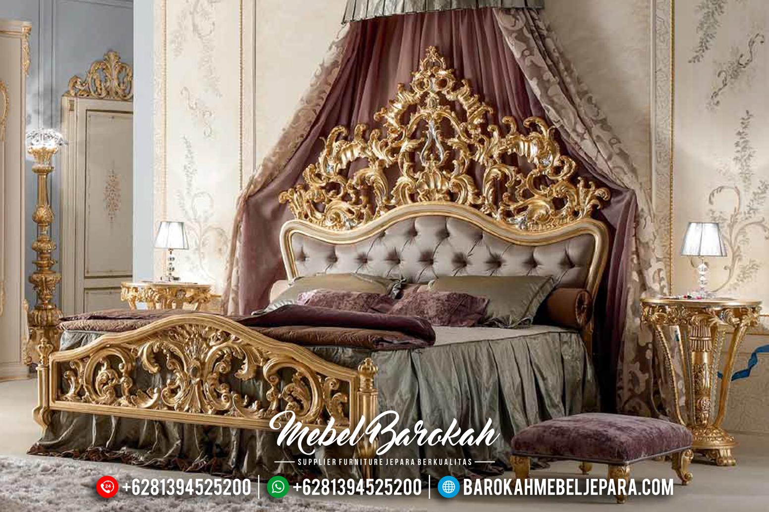 Luxurious Indonesian Furnitures Tempat Tidur Mewah Jepara Gold Leaf MB-0180