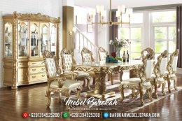 Meja Makan Jepara Mewah, Kursi Makan Duco, Meja Makan Terbaru 2019 MB-0195