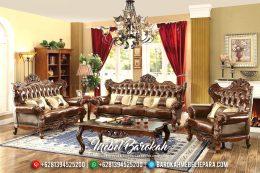 Sofa Tamu Jepara Jati Mewah Klasik Ukiran Terbaru Natural Salak MB-0191