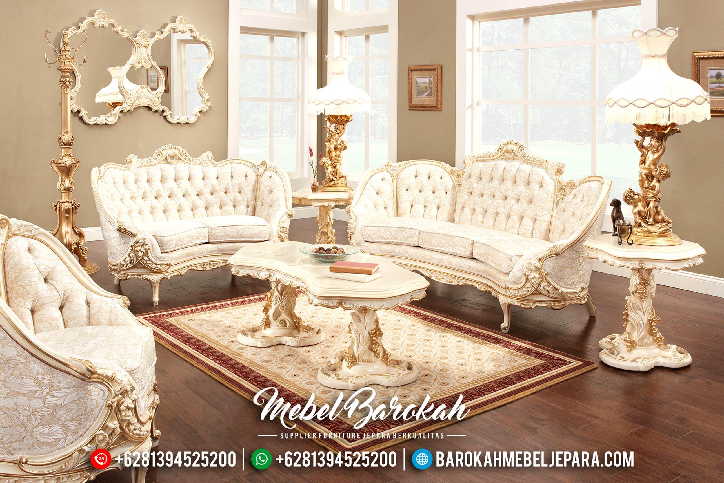 Sofa Tamu Mewah Duco, Sofa Tamu Jepara Klasik, Set Kursi Tamu Terbaru MB-0193
