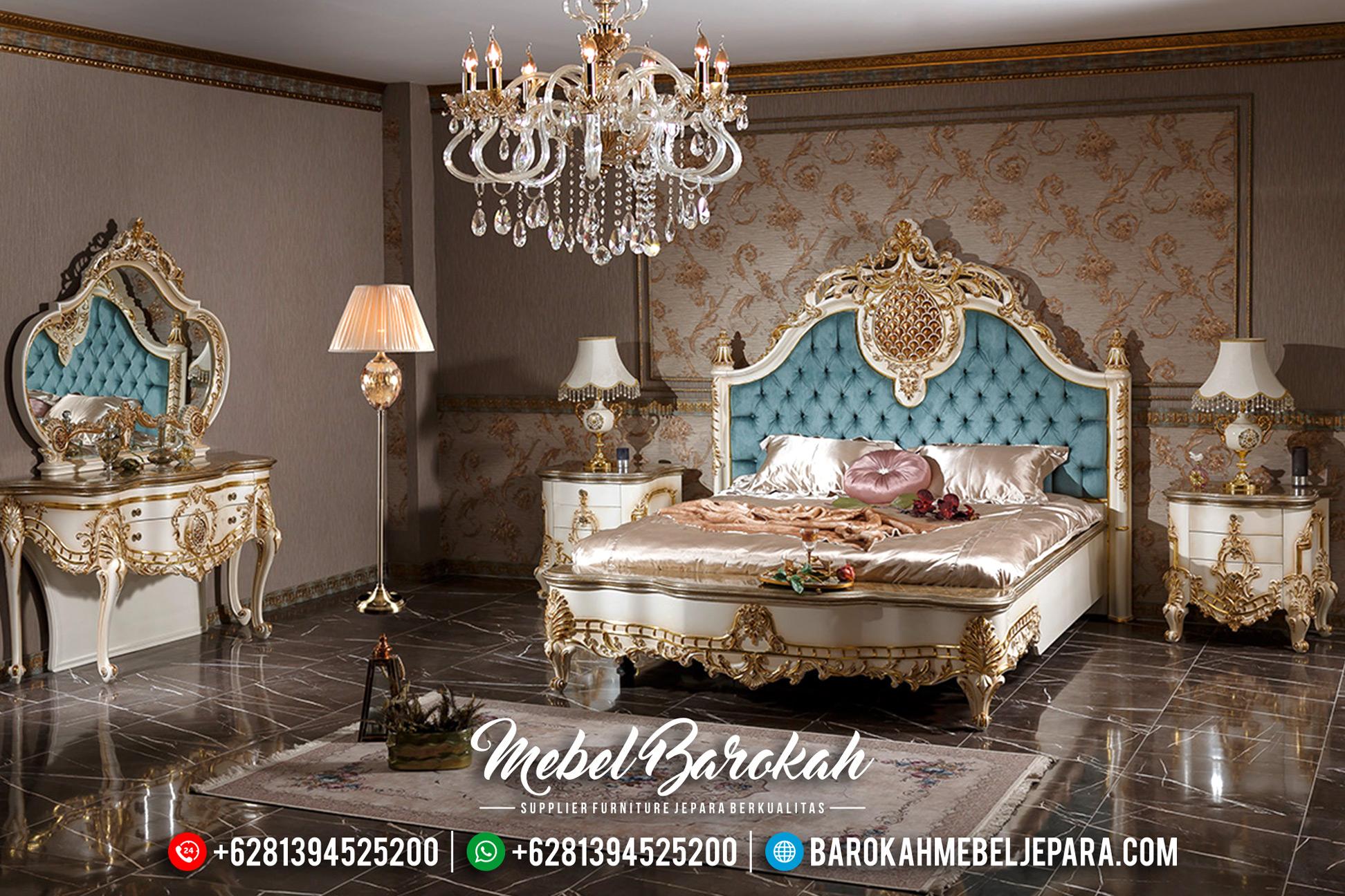 Tempat Tidur Jepara Duco, Tempat Tidur Mewah, Dipan Pengantin Classic MB-0182