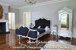 Tempat Tidur Jepara Mewah Rococo Silver Leaf Furniture Indonesia MB-0183