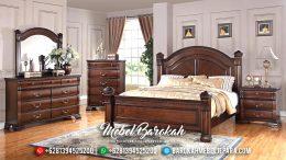 Tempat Tidur Jepara Minimalis Mewah Mebel Jati Terbaru Natural Salak MB-0190