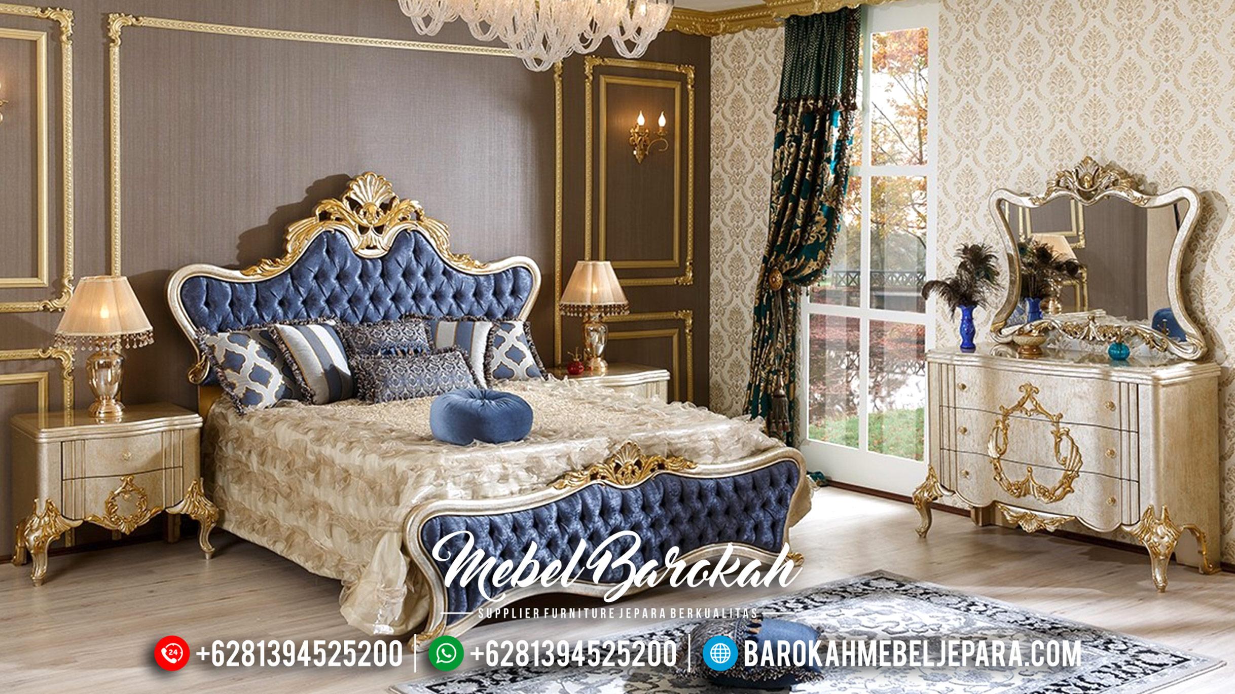Tempat Tidur Mewah Jepara, Dipan Pengantin Mewah, Kamar Set Jepara Klasik MB-0189