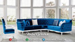 Jual Sofa Tamu Jepara Minimalis Mewah Blue White MB-0297
