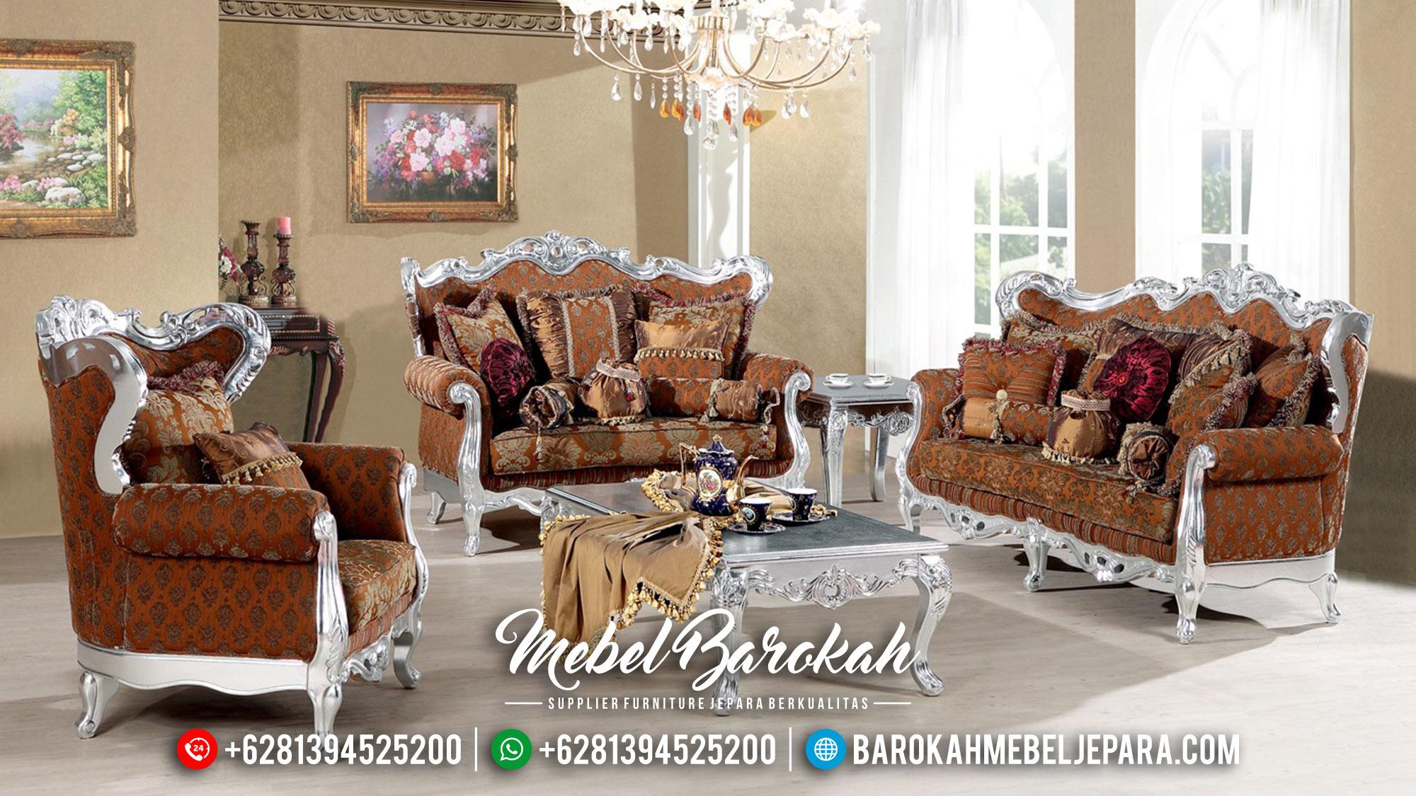 Sofa Tamu Mewah Silver Duco Terbaru 2019 MB-0294