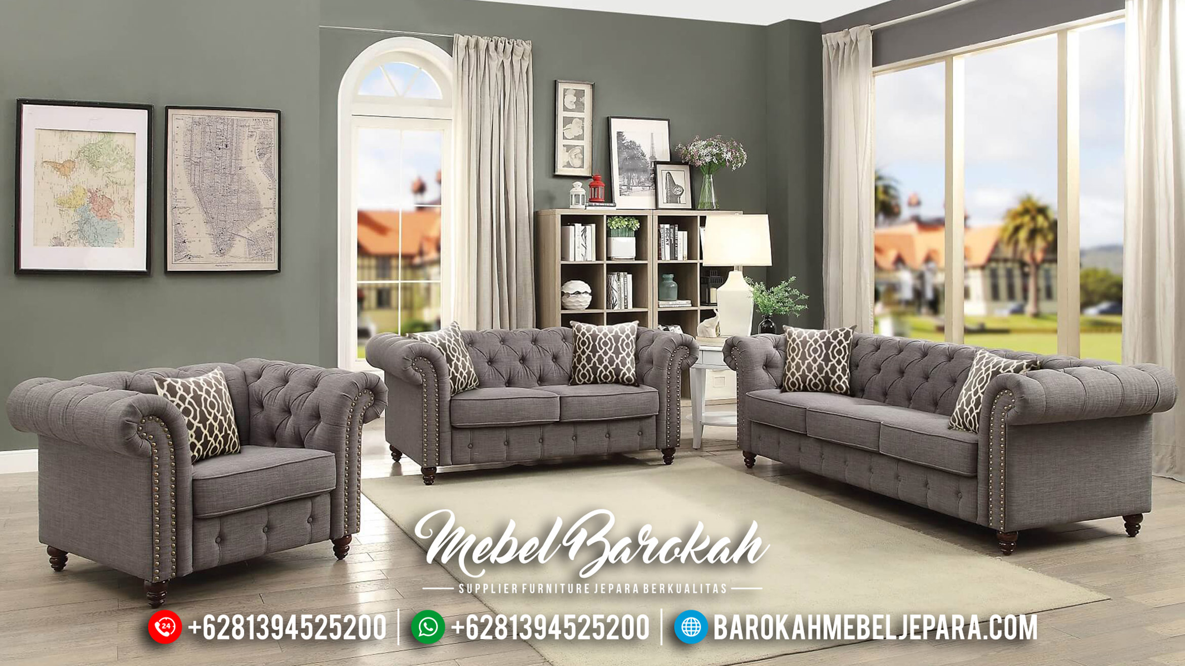 New Set Sofa Tamu Chesterfield Soft Color MB-0312