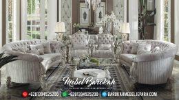 Set Sofa Tamu Mewah Silver Glossy MB-0310