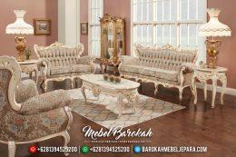 Set Kursi Sofa Tamu Mewah Jepara Ivory Gold MB-0307